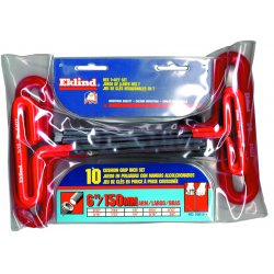 Eklind Tool - 53610 - Long T-Shaped Cushion SAE Black Oxide Hex Key Set, Number of Pieces: 10