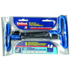 Eklind Tool - 55166 - 2mm - 6mm T-handle Hex Kit W/pouch 6 K, Set