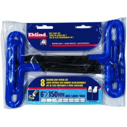 Eklind Tool - 55168 - Long T-Shaped Cushion Metric Black Oxide Hex Key Set, Number of Pieces: 8