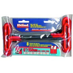 Eklind Tool - 55196 - 2mm - 6mm T-handle Hex Set W/pouch 6 K