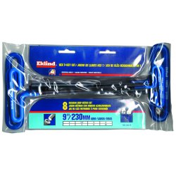 Eklind Tool - 55198 - Long T-Shaped Cushion Metric Black Oxide Hex Key Set, Number of Pieces: 8