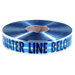 "Empire Level - 31-021 - 2""x1000' Blue Caution Water Line Buried Belo, Ea"