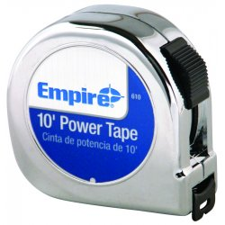 "Empire Level - 610 - 00610 5/8""x10' Power Measuring Tape, Ea"