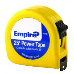 "Empire Level - 627IM - Dwos 1""x25' Power Measuring Tape W/neon Oran"
