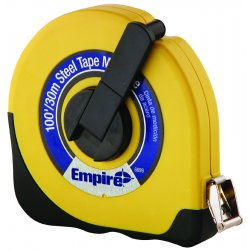 "Empire Level - 6699 - 06699-1 100'x3/8"" Abs Case Steel Tape Foldin, Ea"