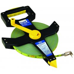 """Empire Level - 6720 - Empire Level 1/2"""" X 200' Black ABS Case Yellow Nylon Clad Coated Steel Blade Plastic Reel Open Reel Single Side Measuring Tape With Inches Reading"""