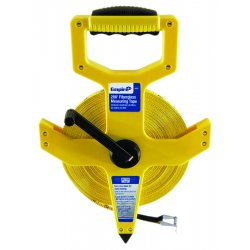 Empire Level - 6820 - Empire Level 1/2' X 200' Black ABS Case Yellow Fiberglass Blade Plastic Reel Open Reel Single Side Measuring Tape With Inches Reading, ( Each )