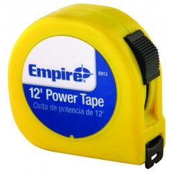 "Empire Level - 6912 - Dwos 5/8""x12' Power Measuringtape W/neon Yell"