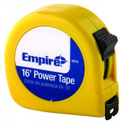 "Empire Level - 6916 - 3/4""x16' Power Measuringtape W/neon Yell, Ea"