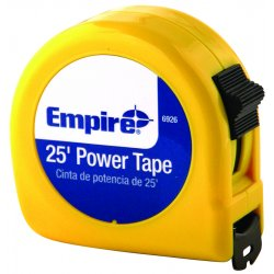 "Empire Level - 6926 - 1""x25' Power Measuring Tape W/neon Yell, Ea"