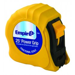 "Empire Level - 7526 - 1""x25' Yellow Power Griptape Measure, Ea"