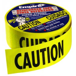 "Empire Level - 76-0600 - Caution Tape Heavy Dutyreinforced 3""x500' Roll"