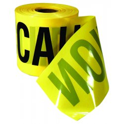 Empire Level - 77-0201 - 200 Ft. x 3 In. Yellow 3 mL Contractor Grade Caution Tape