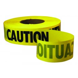 "Empire Level - 272-77-1001 - Caution Barricade Tape, ""Caution"" Text, 3"" x 1000ft, Yellow/Black"