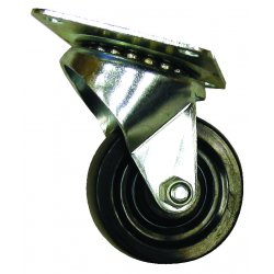 EZ Roll - E-20-HR-S-SB - 2in hard rubber swivel w/brake, EA