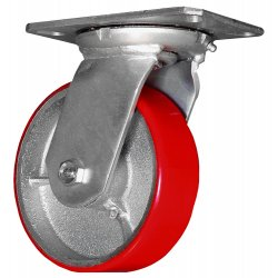 EZ Roll - EZ-0820-MOP-S-SB - 8in Swivel Caster w Brake, EA