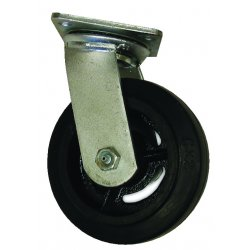 EZ Roll - EZ-0820-MOR-S - 8x2in rubber tread/castcore swivel, EA