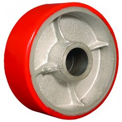"EZ Roll - WEZ-0420-MOPR - 4""x2"" Polyurethane Treadcast Iron Core Wheel, Ea"