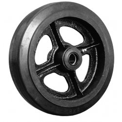 "EZ Roll - WEZ-0420-MORR - 4""x2"" Rubber Tread Castiron Core Wheel 1/2"" I, Ea"