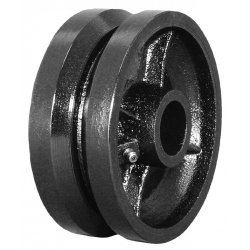"EZ Roll - WEZ-0820-VGR - 8""x2"" V-groove Steel Wheel 1/2"" I.d., Ea"