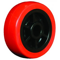 "EZ Roll - WZ-40-MOPP - 4""x1.25"" Polyurethane Tread Poly Core Wheel 3/, Ea"