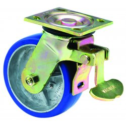 E.R. Wagner - 1F88E6625007D90 - 6x2 Hvy Duty 90 Plate Swivel Total-Lock Caster, EA