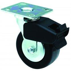 E.R. Wagner - 4F880543800F190 - 5x2 Med Hvy Dty AR PlateSwivel TotalLock Caster, EA