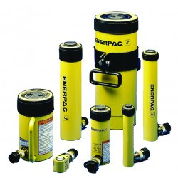 "Enerpac - RC-108 - 10 tons Single Acting General Purpose Steel Hydraulic Cylinder, 8"" Stroke Length"
