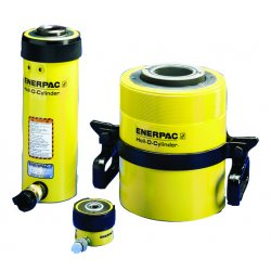 "Enerpac - RCH1003 - 100 tons Single Acting Hollow Steel Hydraulic Cylinder, 3"" Stroke Length"