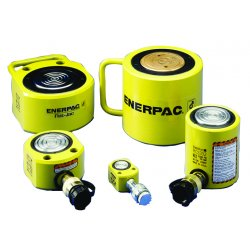 "Enerpac - RCS-201 - 20 tons Single Acting Low Height Steel Hydraulic Cylinder, 1-3/4"" Stroke Length"