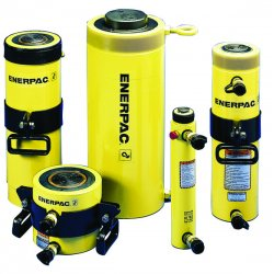 """Enerpac - RRH606 - 60 tons Double Acting Hollow Steel Hydraulic Cylinder, 6-1/2"""" Stroke Length"""