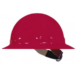 Fibre-Metal - E1RW15A000 - Full Brim Hard Hat, 8 pt. Ratchet Suspension, Red, Hat Size: 6-1/2 to 8""