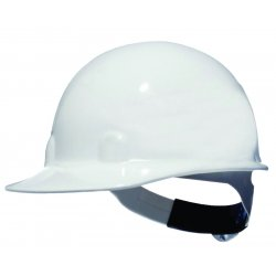 Fibre-Metal - E2QRW01A000 - Front Brim Hard Hat, 8 pt. Ratchet Suspension, White, Hat Size: 6-1/2 to 8""