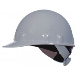 Fibre-Metal - E2QSW01A000 - Front Brim Hard Hat, 8 pt. Ratchet Suspension, White, Hat Size: 6-1/2 to 8""