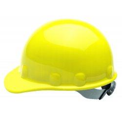 Fibre-Metal - E2RW02A000 - Front Brim Hard Hat, 8 pt. Ratchet Suspension, Yellow, Hat Size: 6 1/2 to 8