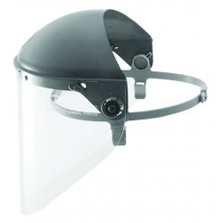 "Fibre-Metal - F4400 - Black Faceshield Headgear, 4"" Crown Visor Height, Plastic Visor Material"
