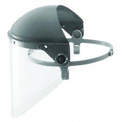 "Fibre-Metal - F4500 - Black Faceshield Headgear, 7"" Crown Visor Height, Plastic Visor Material"