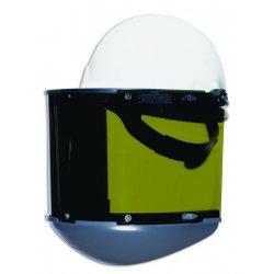 "Fibre-Metal - FM70DCCL - Black Dual Crown Faceshield, Corona 4"" Visor Height, Noryl® Visor Material"
