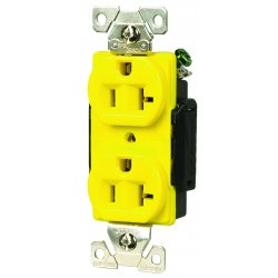 Cooper Wiring Devices - 5362CRY - Plugs and Receptacles - Receptacle - Double (Each)
