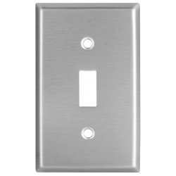 Cooper Wiring Devices - 93971-BOX - Wallplate 1g Toggle Receptacle Mid Ss