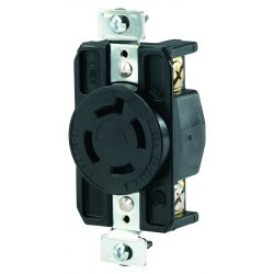 Cooper Wiring Devices - CWL1420R - Recp Single 20a 125/250v3p4w H/l Bk