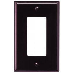 Cooper Wiring Devices - PJ26B - Wallplate 1g Decorator Poly Mid Br
