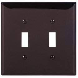 Cooper Wiring Devices - PJ2B - Wallplate 2g Toggle Polymid Br