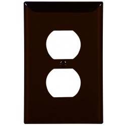 Cooper Wiring Devices - PJ8B - Wallplate 1g Duplex Polymid Br
