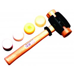 Garland - 31004 - Size 4 Split-head Rawhide Hammer, Ea