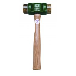 """Garland - 41001 - Size 1 Solid-head Rawhide Hammer 1-1/4"""" Face, Ea"""