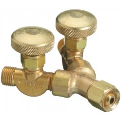 "Western Enterprises - 412 - Western Industrial Air 5/8"" - 18 LH Male X 5/8"" - 18 LH Female Brass ""Y"" Connection Valve, CGA-033"