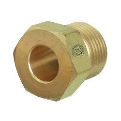 "Western Enterprises - 680-2 - Western CGA-680 1.040"" - 14 NGO Male RH Brass 3000 - 5500 psig Regulator Inlet Nut (For Wrench Flats)"