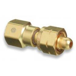 Western Enterprises - 809 - Western CGA-555 X CGA-580 Brass Cylinder To Regulator Adapter