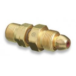 Western Enterprises - 812 - Western CGA-580 X CGA-555 Brass Cylinder To Regulator Adapter